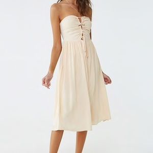 Forever 21 Lace-Up Midi Dress